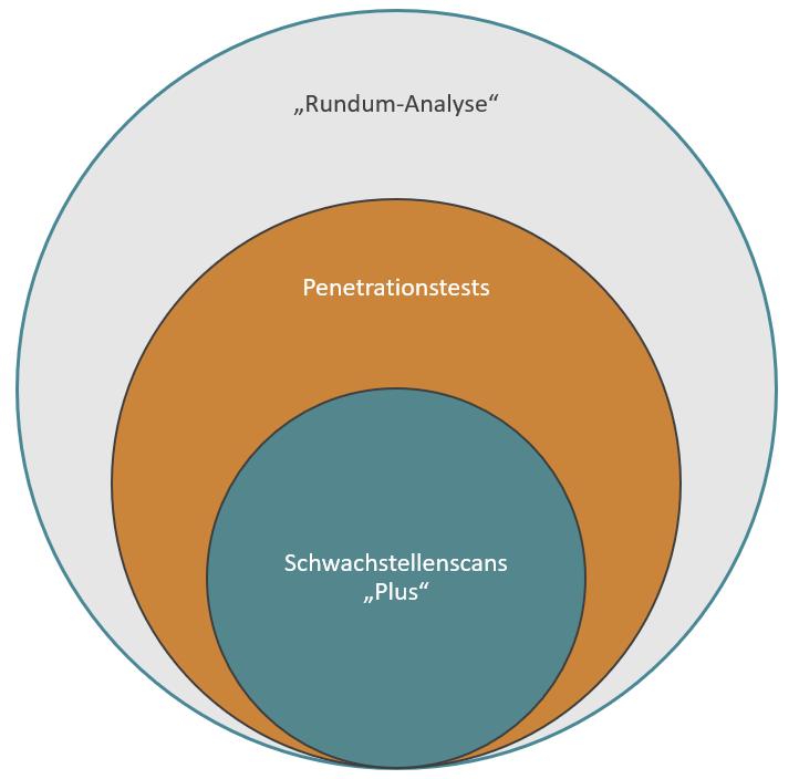 Von Schwachstellenscans über Pentests bis zur Rundum-Analyse: IT-Sicherheit ist vielfältig.